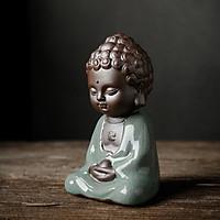 Tượng Phật Thích Ca Gốm Xanh