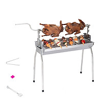 Bếp nướng than hoa đa năng TOPV: Nướng 2 trong 1, lò nướng than Inox bền sạch, lò quay vịt gia đình, bếp nướng than DNL