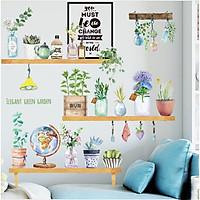 Decal lọ hoa, bình hoa trang trí tường