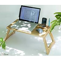 Bàn làm việc gấp gọn, với rãnh cắm bút, để điện thoại và máy tính bảng tiện dụng/ Lapdesk