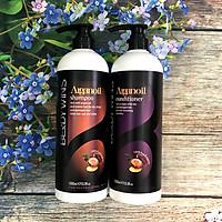 Bộ dầu gội xả BERDYWINS Argan Oil siêu mượt phục hồi tóc hư tổn 1000ML