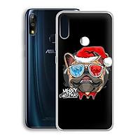 Ốp lưng dẻo cho điện thoại Zenfone Max Pro M2 - 01219 7939 BULLDOG03 - Bulldog chúc mừng Giáng Sinh - Hàng Chính Hãng