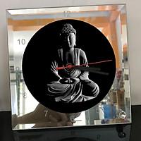 Đồng hồ thủy tinh vuông 20x20 in hình Buddhism - đạo phật (24) . Đồng hồ thủy tinh để bàn trang trí đẹp chủ đề tôn giáo