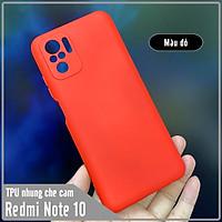 Ốp lưng cho Xiaomi Redmi Note 10S - Note 10 4G, nhựa TPU dẻo màu lót nhung che camera