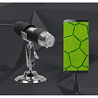 Kính hiển vi phóng đại 1000 lần cắm USB hình ảnh sắc nét, chân thực cao cấp (Tặng nút kẹp cao su giữ dây điện-giao màu ngẫu nhiên)