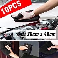 10 Pcs Car Cleaning Detailing Microfiber Soft Polish Cloths Towels 30cm x 40cm