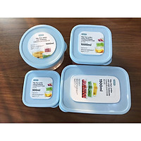 Bộ 3 hộp thực phẩm tròn Hokkaido size 500-1000-2000ml
