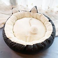 Nệm ngủ tròn mèo đuôi bông cho chó mèo (Giao màu ngẫu nhiên)