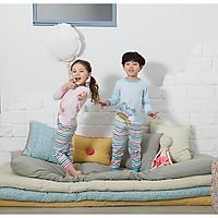 Bộ dài cho bé Olomimi Hàn Quốc Rainbow Unicorn Blue FW20 - 100% cotton