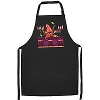 Tạp Dề Làm Bếp In Hình Bạch tuộc pha chế - ABZTU004 – Màu Đen