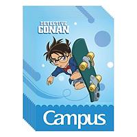 Lốc 10 Cuốn Vở 4 Ô Ly (2,5X2,5Mm) Campus Conan Skateboard NB-BCNS80 - ĐL 100 (80 Trang) - Giao Mẫu Ngẫu Nhiên