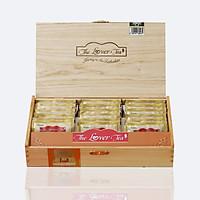 HỘP TRÀ GỖ 18 gói Trà xanh Nguyên cánh cao cấp The Lover Tea - Quà biếu tặng thượng hạng cho Lễ, Tết, Trung thu (Premium Tea Gift)
