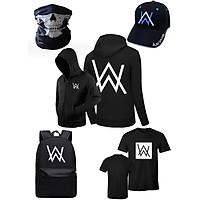 Combo alan walker 5 món áo khoác balo áo thun nón khăn thời trang T-mon