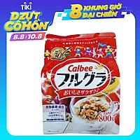 Ngũ cốc Calbee vị Trái cây gói đỏ 800gr (Trái cây & các loại Hạt)