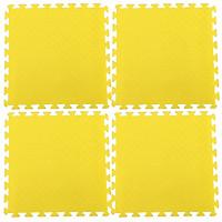 Bộ 4 tấm Thảm xốp lót sàn an toàn Thoại Tân Thành - màu vàng (60x60cm)
