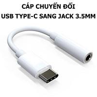 Cáp Chuyển Đổi USB Type-C Sang Jack 3.5 mm Cho Tai Nghe, Headphone jack; Dành Cho cho Samsung Galaxy S20, iPad Pro... - Hàng Nhập Khẩu