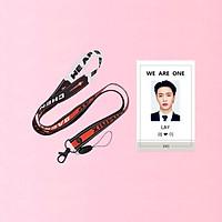 Combo dây đeo thẻ EXO và card đeo thẻ LAY EXO