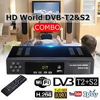 Digital Satellite Terrestrial TV Receiver DVB T2+S2 HD 1080P Decoder Set-top BOX