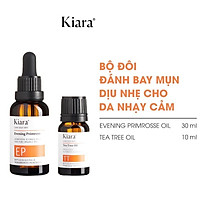 Bộ Đôi Giảm Mụn Dịu Nhẹ Cho Da Nhạy Cảm Kiara Tea Tree Oil và Evening Primrose Oil