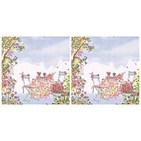 Combo 2 Xấp Khăn Giấy Ăn Trang Trí Bàn Tiệc Tissue Napkins Design Ti-Flair 363411 (33 x 33 cm) - 40 tờ