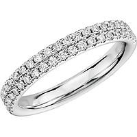 Nhẫn bạc nữ kết đá pha lê song song R143  ( size #6 )