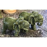cặp voi đá ngọc spentien