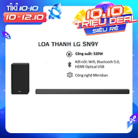 Loa thanh soundbar LG 5.1.2 SN9Y (520W) - Hàng chính hãng