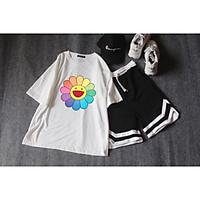 Sét áo hoa cười +quần đùi V T&T