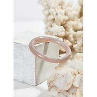 Vòng tay đá mã não trắng thiên nhiên bản tròn 10mm mệnh kim thủy - Ngọc Qúy Gemstones