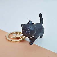 Móc Khóa Mèo 3D Khóa Vàng