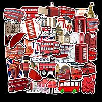 Set 30 Sticker chủ đề London ảnh decal hình dán ép lụa