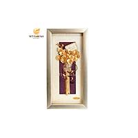 Tranh bó hoa lan dát vàng nền sáng (13x26cm) MT Gold Art- Hàng chính hãng, trang trí nhà cửa, phòng làm việc, quà tặng sếp, đối tác, khách hàng, tân gia, khai trương