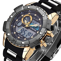 STRYVE Men's Fashion Multifunctional Double Movement 3-degree Waterproof Youth Sports Watch 8001