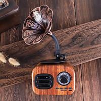 Loa Bluetooth Phong Cách Cổ Điển FT-05 Âm Thanh Siêu Trầm Công suất 5W Có Khe Cắm Thẻ Nhớ - Hàng Chính Hãng
