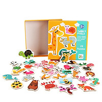 Đồ chơi gỗ tranh ghép hình động vật cho bé từ 2 tuổi, xếp hình puzzel thông minh