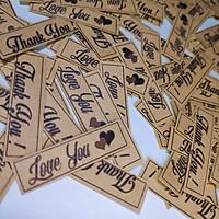 """GIẤY DÁN STICKER """"THANK YOU"""" TRANG TRÍ SỔ TAY, ĐƠN HÀNG, ALBUM"""