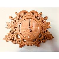 Đồng hồ Gỗ Pơ Mu nguyên khối - Vân gỗ đẹp tự nhiên - thiết kế tinh xảo - sang trọng - thẩm mỹ cao