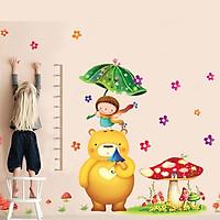 Decal dán tường thước đo gấu to và bé LaLa Shop DC478 ( 180 x 200 cm)