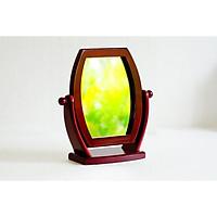 Gương soi để bàn - Gương trang điểm để bàn khung gỗ G07