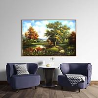 Tranh canvas phong cách sơn dầu - Phong cảnh Làng quê châu Âu - PC033