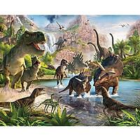 Tranh ghép hình 1000 mảnh gỗ - Thế giới khủng long