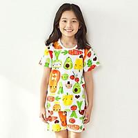 Bộ đồ ngắn tay mặc nhà cotton giấy cho bé gái U3020 - Unifriend Hàn Quốc, Cotton Organic