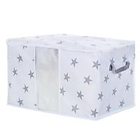 Portable High Capacity Non-woven Quilt Storage Bag Folding Closet Organizer for Quilt Blanket Bedding