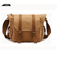 Túi máy ảnh vải bố kết hợp với da imax-V4321