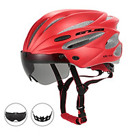 Bicycle Helmets Integrally Molded Cycling Helmets with Detachable  Magnetic Goggles Mountain Road Bike Riding Outdoor