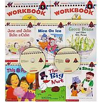 Scholastic Phonics Booster Books : Box Set Level 3 (Include 6 Books, 2 Workbooks and 2 Audio CDs)