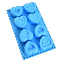 Khuôn Silicon 8 trái tim