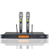 Đầu Thu Karaoke Không Dây Shubole K12 + 2 Micro Không Dây UHF Chính Hãng