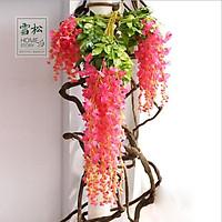 Hoa giả - ComBo 12 Cành Hoa Giả tử đằng dài 110cm đẹp long lanh