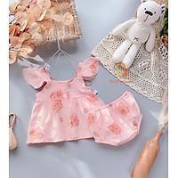 Quần áo trẻ em sơ sinh Babi mama Bộ đồ rời hai dây cánh tiên cho bé yêu SS04